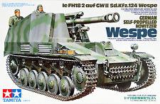 Tamiya 35200 German Self-Propelled Howitzer Wespe 1/35 Scale kit