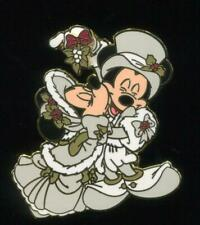 DLR Victorian Holiday Mickey and Minnie with Mistletoe Disney Pin 50747