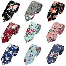 Men Business Tie 6CM Floral Flower Necktie Wedding Party Cotton Neck Ties