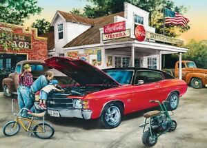Jigsaw Puzzle Vehicle Getting Dirty Chevrolet SS Muscle Car 1000 pieces NEW