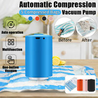 Mini Automatic Compression Vacuum Sealer Electric Air Pump+ 5X Food Storage Bag