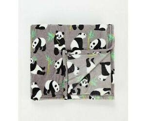 Grey Panda Bear Super Soft Warm Throw Blanket Kids Gift 120x150cm