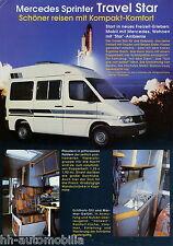 Prospekt Mercedes Sprinter Reimo Travelstar 1 96 Wohnmobil 1996 brochure Auto