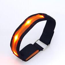 Elegante Arancione LED LAMPEGGIANTE SICUREZZA Running Outdoor Sports Cinturino Banda riflettente