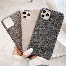 Solid Color Cotton Cloth Phone Case Cover For iPhone 11 Pro XS Max XR 8 Plus SE2