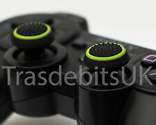 2 X Black / Green Silicone Thumb Stick Grip Cover Cap PS3 Dualshock Controller