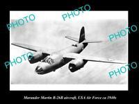OLD HISTORIC AVIATION PHOTO, MARAUDER MARTIN B-26B AIRCRAFT, USAAF c1940