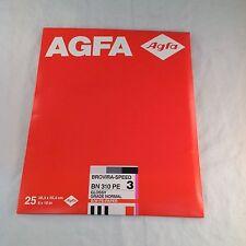 AGFA Brovira Speed BN 310 3E 3 8X10 in 25 sheets sealed