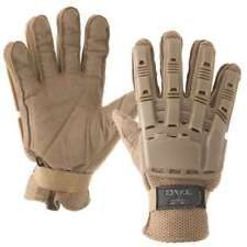 Valken V-Tac Full Finger Plastic Back Gloves - Tan - Small