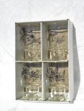 Vint Anchor Hocking 4 Pce. Outdoorsman Set 16 oz. Pilsner Glasses w/Gamebirds #4
