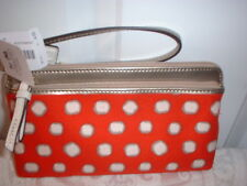 NWT Coach Poppy Mini Dot Double Zip Wallet Wristlet 49941