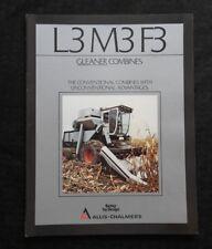 1984 ALLIS CHALMERS GLEANER L3 M3 F3 COMBINE SALES BROCHURE CATALOG REAL NICE