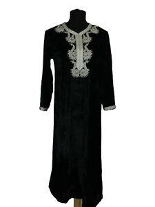 Damen Kleid Marokkanisch Kaftan Kleid Maxikleid Kleid Abaya Robe Samt Gr S-3XL