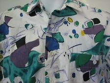 Maui and sons vintage 1980s 1990s abstract pop art bright shirt loose fit medium