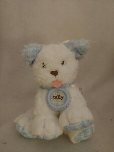 New Tully Amy Coe limited edition plush blue white dog rattle baby toy