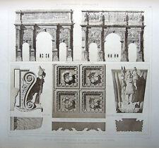 96 ~ Rome SEPTIMIUS SEVERUS ARCH ~ Old 1905 Architecture Detail Design Art Print