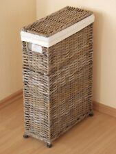 """Raumspar-Wäschekorb """"Rattan"""" Wäschesammler Nischen Wäschebox Farbe: grau"""