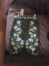 NWT Women's Size 0-2 Suede Skirt w/ Embroidered Flowers