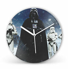"Star Wars Darth Vadar 12"" LP Vinyl Record Clock Canvas Gift Present cl11"