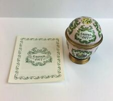 Halcyon Days 1977 Enamel Easter Egg Boxed With COA & Stand