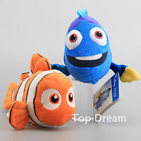 "Genuine Finding Nemo Clown Fish & Dory Plush Toy Soft Stuffed Animal Toy 9"" Cute"