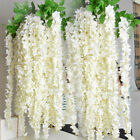 20pcs 1m Artificial Silk Fake Flowers Ivy Garland Vine Wedding Wisteria Hanging!