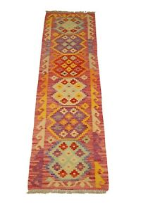 Afghan Kilim Runner Rug, Runner Kilim, Wool Kilim, Hand Woven Afghan Chobi Kilim
