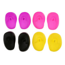 8pcs Silicone Ear Cover Shield Cap Protects Ear from Dryers Irons Chemicals