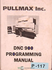 Pullmax DNC 900, Press Programming Manual 2001