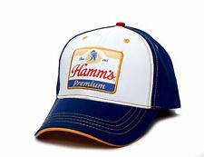 New Hamm's Beer Embroidered Curved Brim Twill Snapback Hat Cap Unisex Adult Blue
