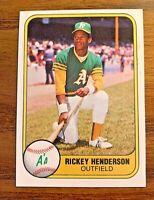 1981 Fleer #574 Ricky Henderson 2nd year card - A's