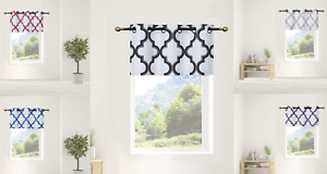 "1PC LINED GEOMETRIC GROMMET PRINTED WINDOW DRESSING VALANCE TOPPER SWAG 37""X18"""