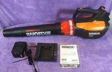 WORX WG591 Turbine 56V Cordless Leaf Blower - Battery & Charger Included