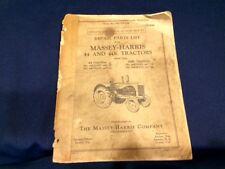 Antique Massey Harris Farm Tractor Catalog Book Repair Parts Manual