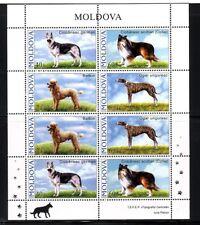 MOLDOVA Sc 539-42+542A NH MINISHEETS of 2006 - DOGS