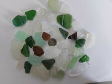 English Sea Glass 150g Patterned Embossed Words Bottle Rim Craft Pieces