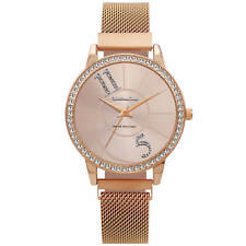 Montres Carlo Fashion Luxury Women Stainless Steel Quartz Analog Mesh Band Watch