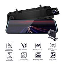 "10"" 1080P Dual Lens Car DVR Dash Cam Touch Screen Recorder Mirror Night Vision"