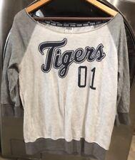 Victoria's Secret PINK Detroit Tigers Crew Off Shoulder Shirt Sweatshirt Small
