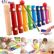 NEW Baby Kid Musical Toys Xylophone Wisdom Development Wooden Instrument US