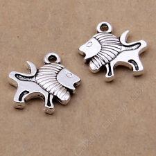 15x Tibetan Silver Charms Lion Animal Pendant Beads DIY Jewelry Accessories /417
