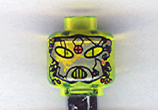 LEGO UFO - Minifig, Head Alien with Gray Mask and Mouth Grille Pattern