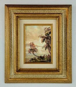 Betty Hay Freeland Original Oil On Canvas Painting Lahaina Maui Hawaii 1984
