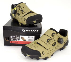 Scott MTB Team Boa Mountain Bike Shoes Beige/Black Men's Size 9.5 US / 43 EU