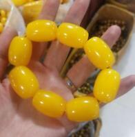 tibet mila bracelet mala prayer bead amber resin necklace antique baltic sea 1pc