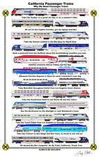 """Why We Need California Passenger Trains 11""""x17"""" Poster by Andy Fletcher signed"""