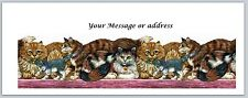 30 Personalized Return Address Labels Cats Buy 3 get 1 free (ct240)