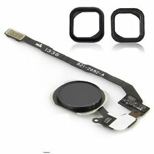 For iPhone SE Black Home Button Menu Button Flex Cable with Rubber Seal