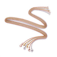 10 strands Mixed Color 304 Stainless Steel Cross Chain with Lobster Claw Clasps