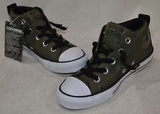 Converse Boy's All Star CT Street Mid Olive/Black/White Sneakers-11/13/2/3/4 NWB
